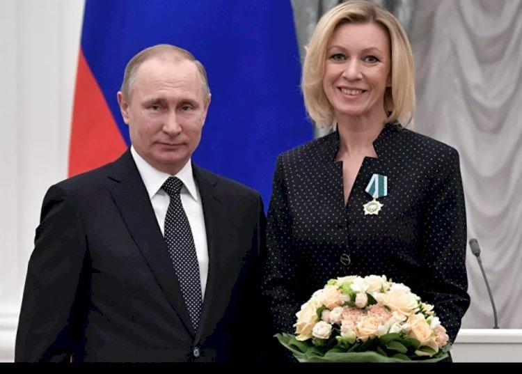 Putin, Zaharova ve Nebenzya'ya devlet nişanı verdi