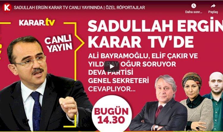 Sadullah Ergin: HSYK düzenlemesinin AYM müdahalesi ile değişmesi FETÖ'nün işine yaradı