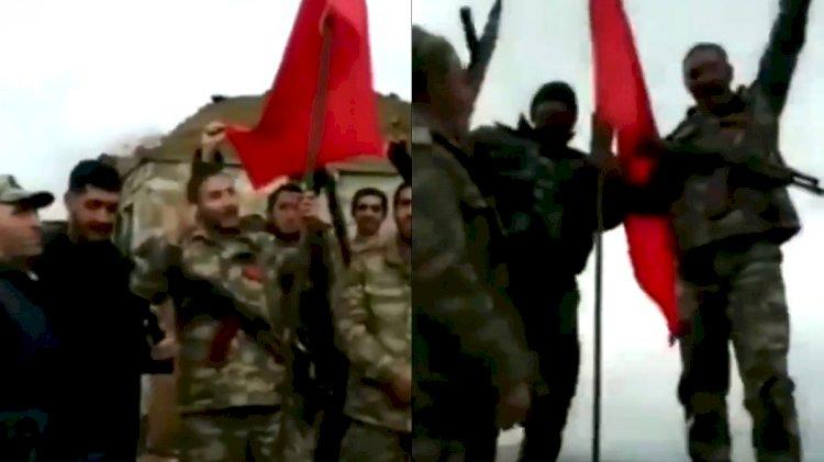 Azerbaycan ordusu, Karabağ'ın tepesine Türk bayrağı dikti