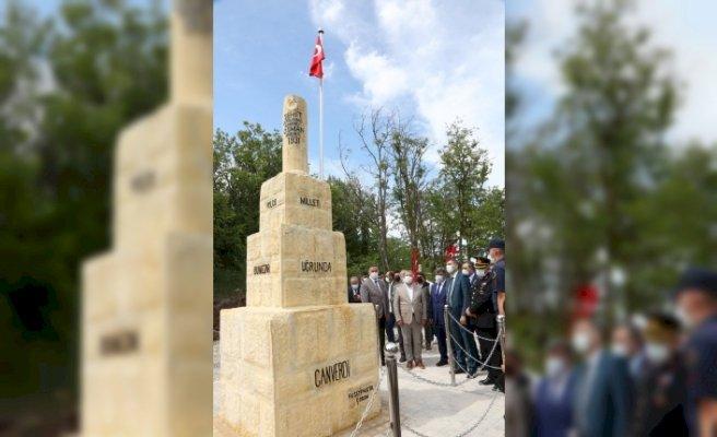 Çorumlu şehit askerin abidesi törenle açıldı