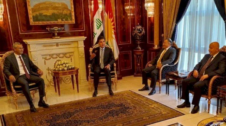 CHP heyeti Barzani'ye Ortadoğu iş birliği çalışmasını anlattı