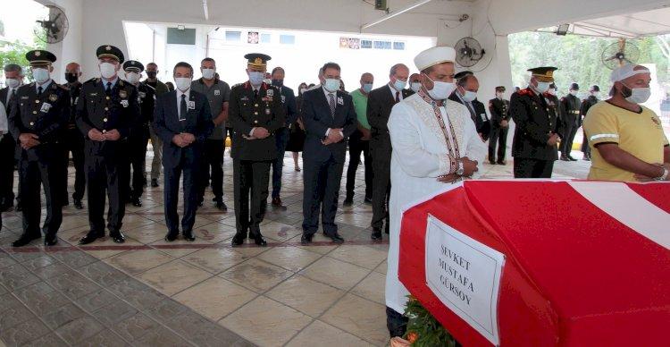 Şehit Şevket Mustafa Gürsoy'un naaşı askeri törenle defnedildi