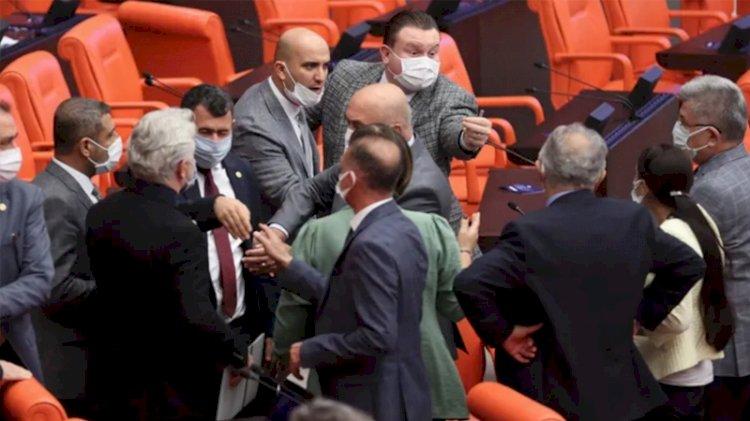 MHP'li ve HDP'li milletvekilleri birbirine girdi