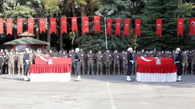 Şehit polisler için Gaziantep'te tören düzenlendi