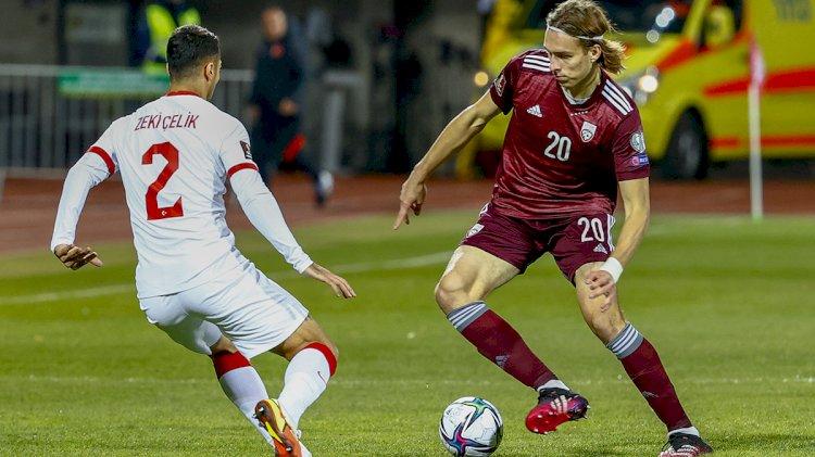 Türkiye Letonya'yı 2-1 yenmeyi başardı