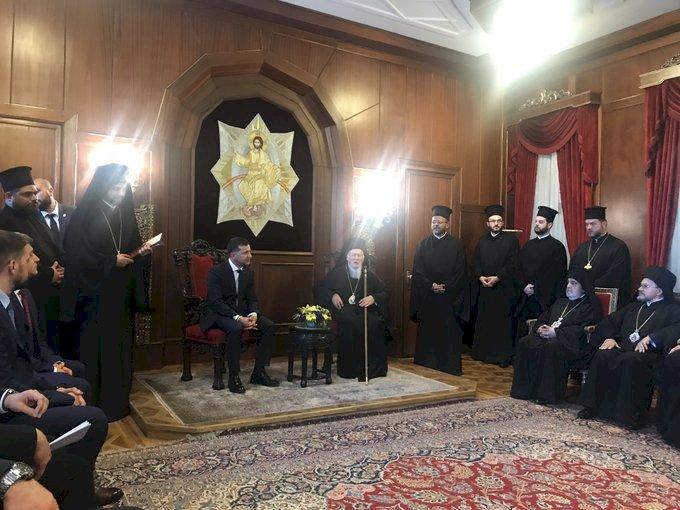 Ukrayna Devlet Başkanı Zelenskiy'den Bartholomeos'a Ziyaret
