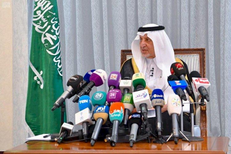 Medya temsilcileriyle bir araya gelen Mekke Valisi, hac rakamlarını paylaştı