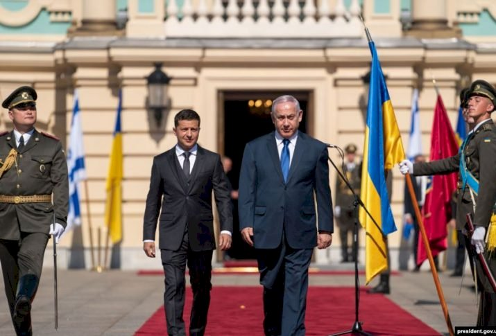 İsrail Başbakanı Binyamin Netanyahu  Ukrayna ziyareti skandalla başladı
