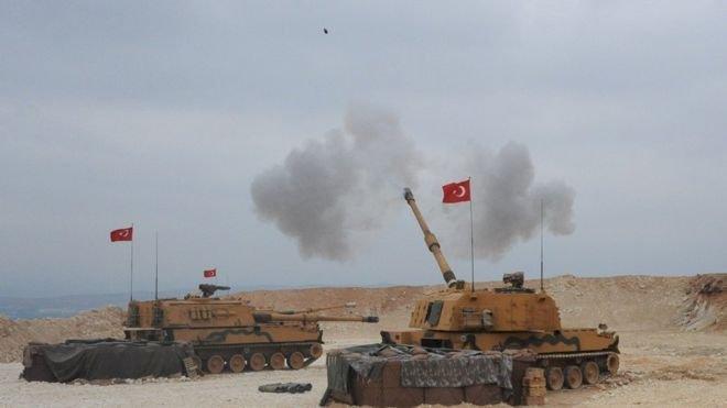 Resulayn ve Tel Abyad'da hedefler havadan ve karadan vuruluyor