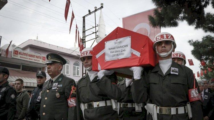 Şehit Veteriner Uzman Çavuş İsmail Sarıcan Hatay'da toprağa verildi