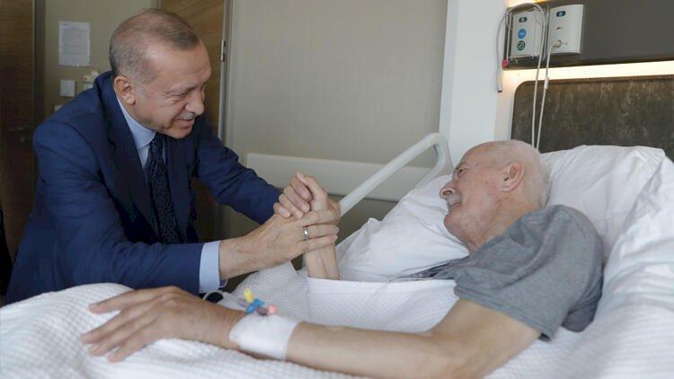 Cumhurbaşkanı Erdoğan, Şevket Kazan'ı ziyaret etti