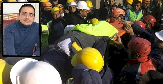 Gaziantep'te çöken iskelenin altında kalan mühendis hayatını kaybetti