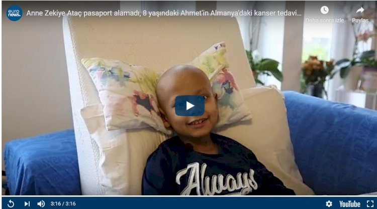 Anne Zekiye Ataç pasaport alamadı, tedavisine ara verilen kanser hastası Ahmet Türkiye'ye döndü